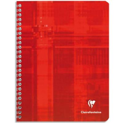 CAHIERS SPIRALES 24X32CM CLAIREFONTAINE 90G 100 PAGES 5X5	 - 	118284