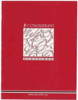 CAHIERS PIQÛRE 17X22CM CONQUERANT 90G 32 PAGES SEYES	 - 	317385