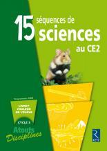 15 SEQUENCES DE SCIENCES CE2 PACK 6 CAHIERS	 - 	9782725627540
