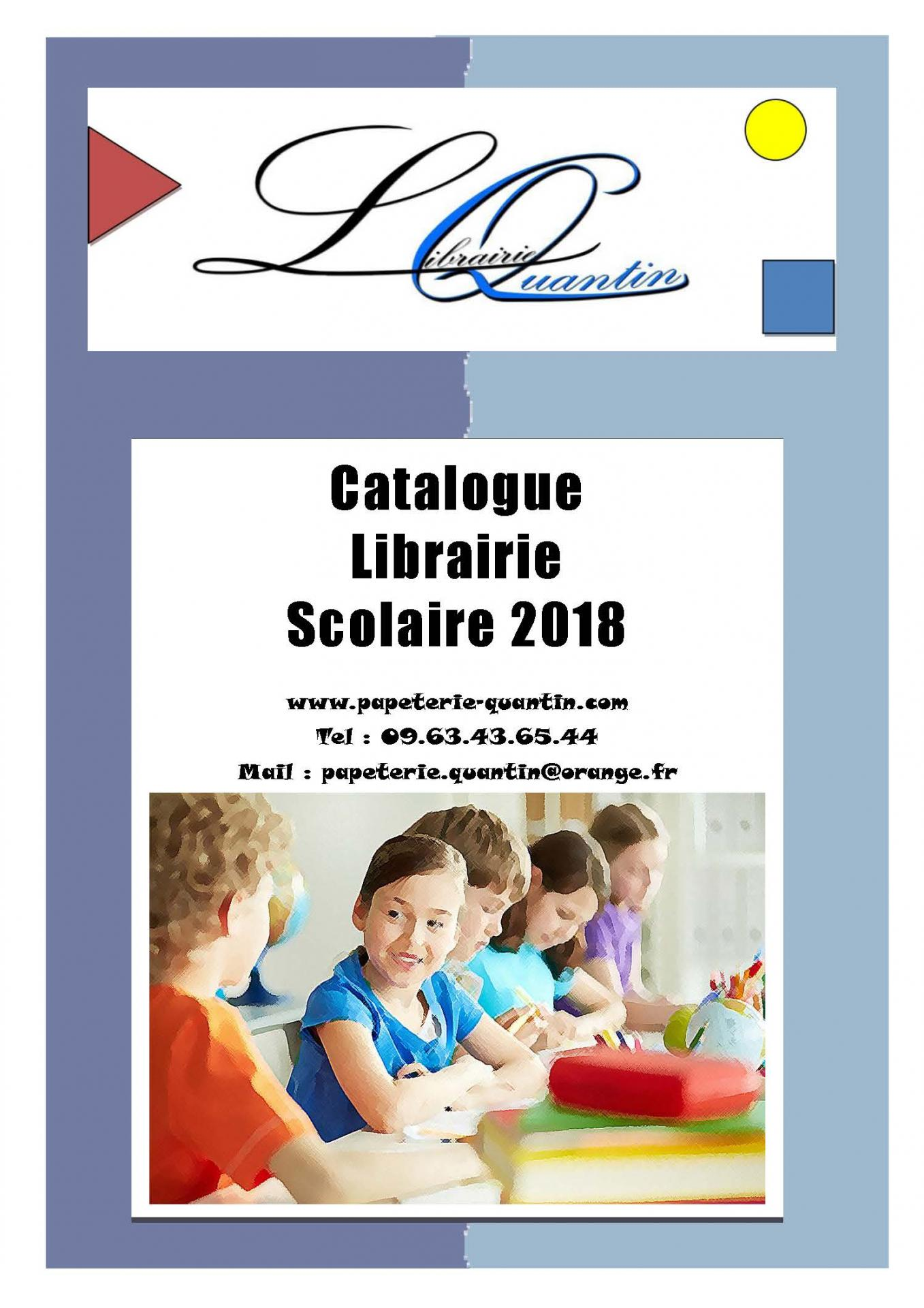 Premiere page catalogue scolaire 2018